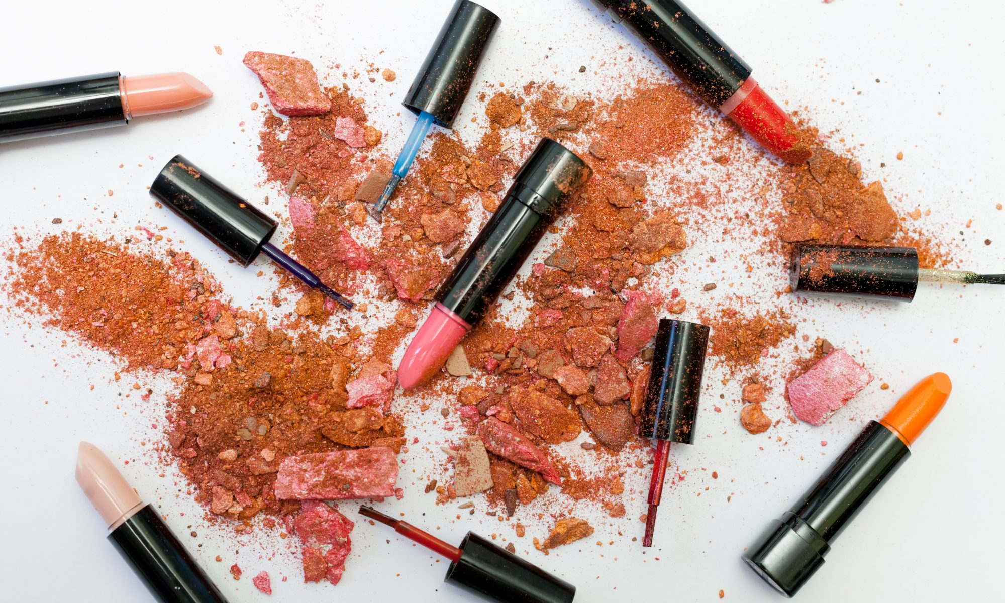 different color lipsticks on table